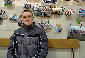 Geflüchteter aus dem Donbass in Lemberg